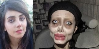 Angelina Jolie looks like a sick zombie girl with COVID-19 in an Iranian prison