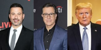 """Late-night Show Hosts Jimmy Kemmel And Stephan Colbert Slam Back At President Trump For His Comments """"No Talent"""" Hosts."""